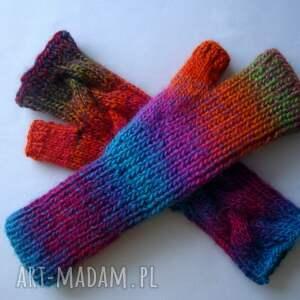 rękawiczki modne multikolor