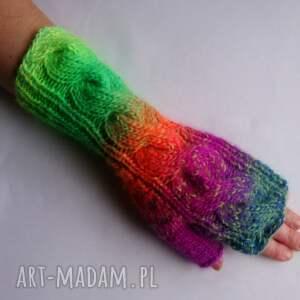 kolorowe rękawiczki multikolor***