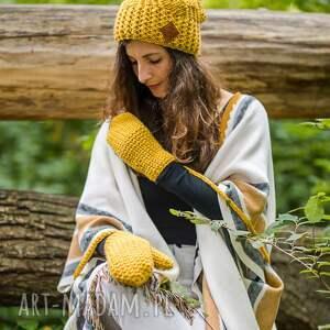 rękawiczki pikantna musztarda