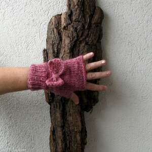handmade rękawiczki pink pastel