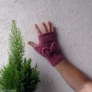 mitenki rękawiczki pink pastel