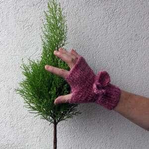 rękawiczki mitenki pink pastel