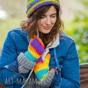Brain Inside rękawiczki: Rainbow - kolorowe ciepłe