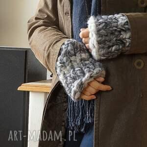niepowtarzalne rękawiczki mitenki rękawki chunky