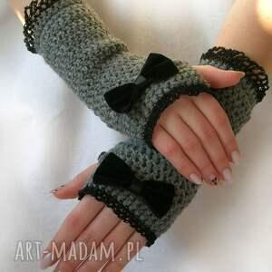 hand-made rękawiczki mitenki romantyczne