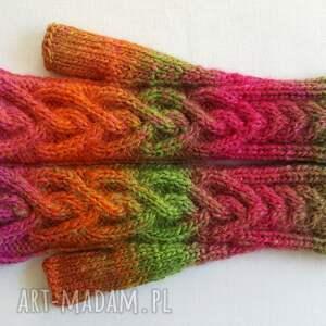 rękawiczki kolorowe serca tęczowe