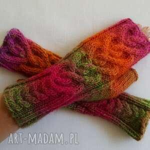 rękawiczki ciepłe serca tęczowe