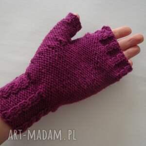 purpurowe rękawiczki serduszka