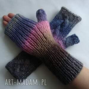 rękawiczki ciepłe tęczowe
