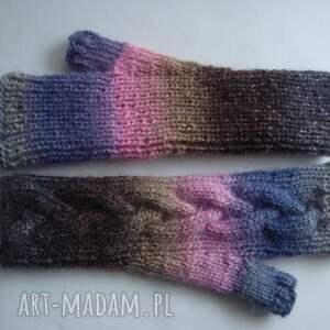 ciepłe rękawiczki tęczowe