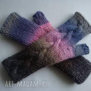 eleganckie rękawiczki ciepłe tęczowe
