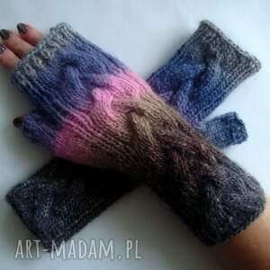 eleganckie rękawiczki modne tęczowe