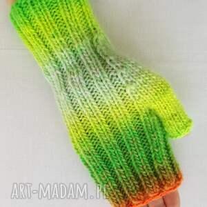 rękawiczki kolorowe tęczowe serca