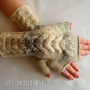 eleganckie rękawiczki ciepłe w beżach