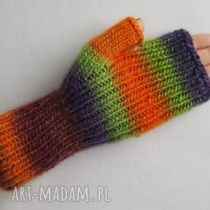 eleganckie rękawiczki ciepłe w jesiennych kolorach