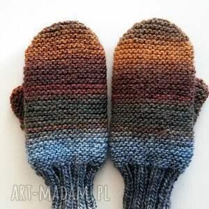 rękawiczki: Wełniane - handmade
