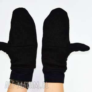 zimowe rękawiczki wełniane mozga - czarne