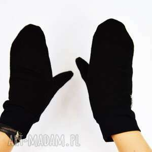 rękawiczki welna wełniane mozga - czarne