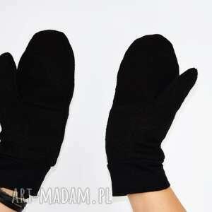 rękawiczki zimowe wełniane mozga - czarne