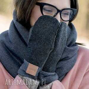 urokliwe rękawiczki ciepłe wygodne wełniane rękawice z motywem