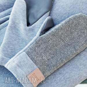 eleganckie rękawiczki dzianinowe wygodne wełniane rękawice z motywem