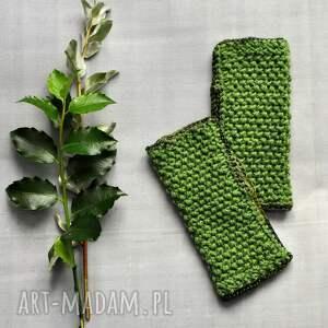 rękawiczki zielone mitenki