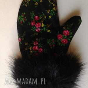 trendy rękawiczki folk zimowe design aneta