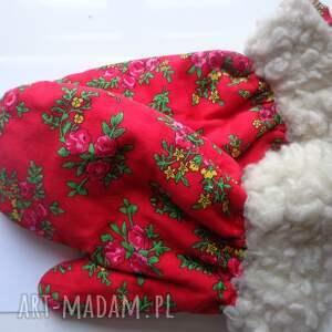 nietypowe rękawiczki folk zimowe design aneta