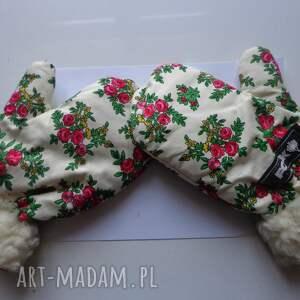 handmade rękawiczki folk zimowe design aneta