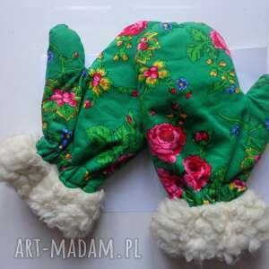 rękawiczki folk zimowe design aneta