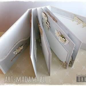 białe scrapbooking albumy chrzest album - św