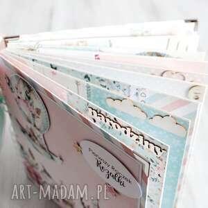 chrzest scrapbooking albumy beżowe album dla dziewczynki