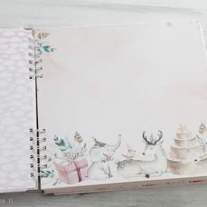 różowe scrapbooking albumy chrzest album dla dziewczynki -