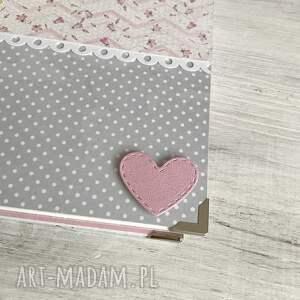 roczek scrapbooking albumy różowe album dla dziewczynki - kolorowe