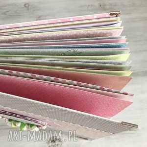 scrapbooking albumy chrzest album dla dziewczynki - kolorowe