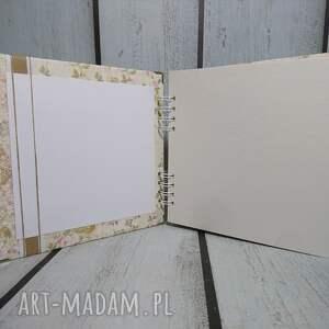 białe scrapbooking albumy panieński album dla jeszcze panny :)
