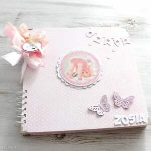handmade scrapbooking albumy prezent album dla dziewczynki - chrzest