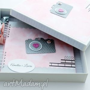 różowe scrapbooking albumy prezent album dla dziewczynki