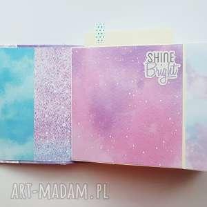 różowe scrapbooking albumy album hidden hinge