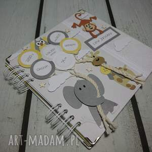 album scrapbooking albumy żółte idziemy do zoo