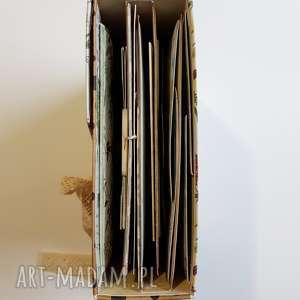 album scrapbooking albumy zielone interaktywny hidden hinge