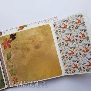 scrapbooking album jesienny