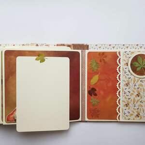 album scrapbooking albumy brązowe jesienny