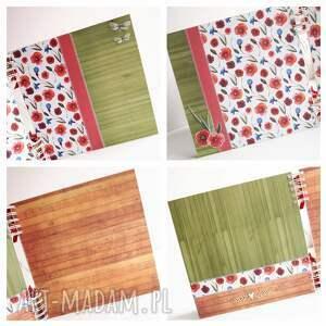 album scrapbooking albumy czerwone maki /25x25cm