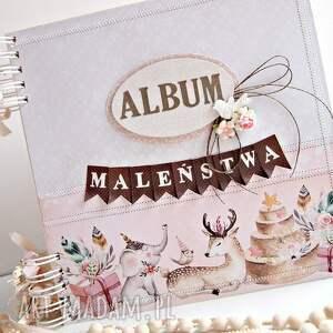 niekonwencjonalne scrapbooking albumy album maleństwa-różowy/25x25cm