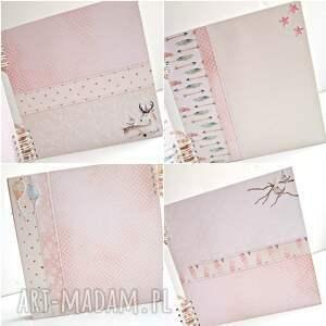 białe scrapbooking albumy prezent album maleństwa-różowy/25x25cm