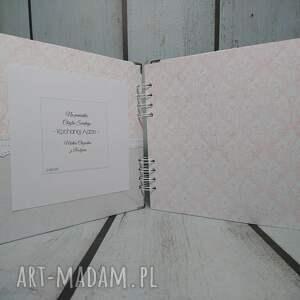 brązowe scrapbooking albumy urodziny album - mały miś