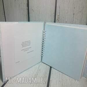 białe scrapbooking albumy narodziny album - metryczka