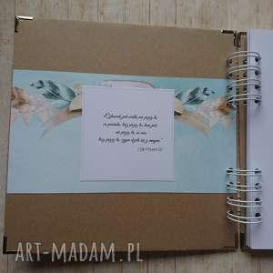 handmade scrapbooking albumy prezent album - miętowa przyjaźń