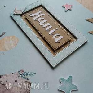 białe scrapbooking albumy prezent album - miętowa przyjaźń